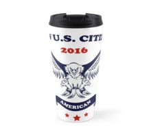 New U.S. Citizen Eagle with Flags Travel Mug