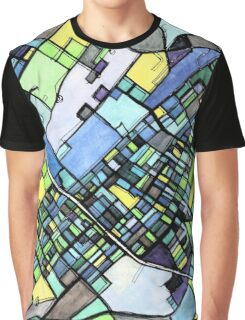 Abstract Map of State College PA Graphic T-Shirt