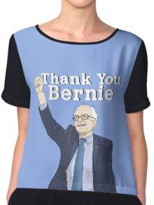 """Thank You Bernie""   White   Bernie Sanders Chiffon Top"