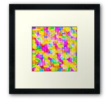 BRICK WALL SMUDGED (Multicolor Light)-(9000 x 9000 px) Framed Print
