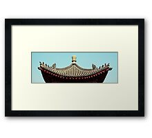 asia temple roof Framed Print