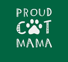 PROUD C-A-T MAMA Womens Fitted T-Shirt