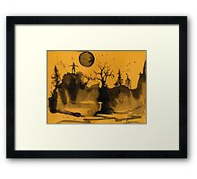 |Moon Framed Print