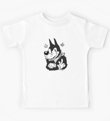 Tim the Old-Timey Wolf Kids Tee