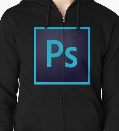 Photoshop Icon Zipped Hoodie