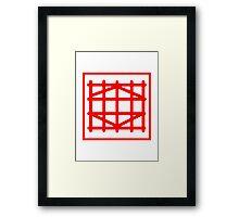 Diamond Analog Framed Print