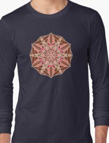Chocolate Rose - Voronoi Long Sleeve T-Shirt