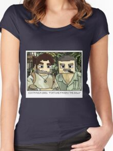 Minecraft Drake and Sully Selfie Women's Fitted Scoop T-Shirt