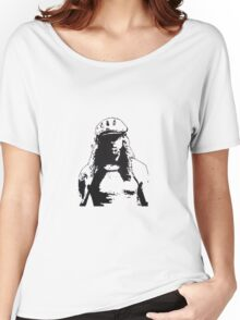 man in cap Women's Relaxed Fit T-Shirt