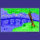 Bridge at Twilight 3 Hot Saturation by JimmyGlenn Greenway