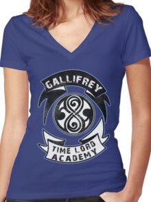 Gallifrey academy Women's Fitted V-Neck T-Shirt