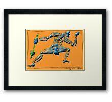 Dance Warrior II  FIST and SPEAR orange Framed Print