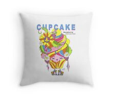Raspberry Throw Cupcake Pillow Throw Pillow