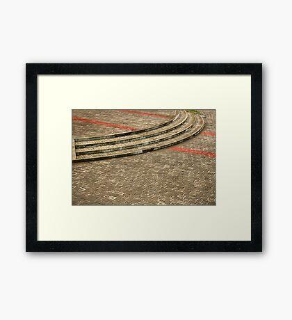 Paved Plaza Framed Print