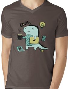 Communication Dinosaurs.  Mens V-Neck T-Shirt