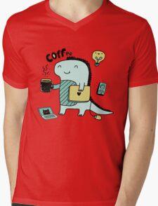 Communication Dinosaurs.  Mens V-Neck T-Shirt