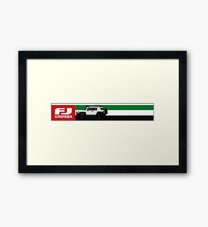 FJ CRUISER UAE Framed Print