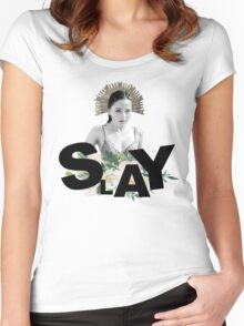 SLAY - Kate Fuller Women's Fitted Scoop T-Shirt