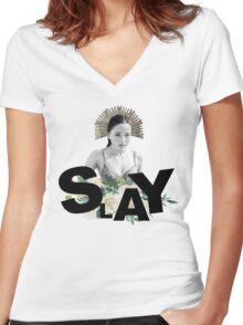 SLAY - Kate Fuller Women's Fitted V-Neck T-Shirt