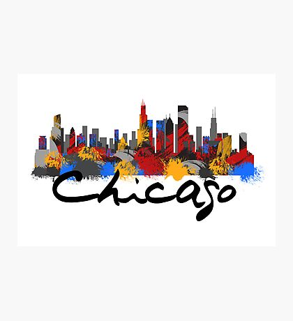 Chicago Illinois Skyline Photographic Print