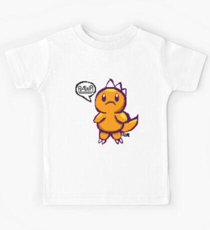 Pixel Rawr (Orange) Kids Tee