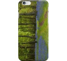 Footpath Through The Bluebell Wood iPhone Case/Skin