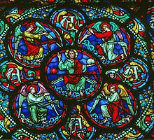 C13 glass Notre Dame Dijon France 198405010024  by Fred Mitchell