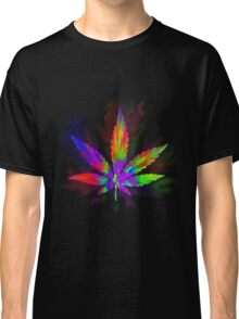 Colourful Weed Leaf Classic T-Shirt