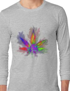 Colourful Weed Leaf Long Sleeve T-Shirt
