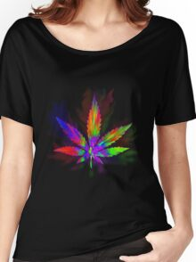 Colourful Weed Leaf Women's Relaxed Fit T-Shirt