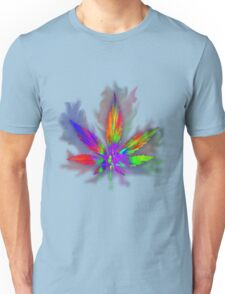 Colourful Weed Leaf Unisex T-Shirt