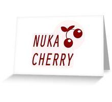 Nuka Cola Cherry Label Greeting Card