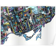 Abstract Map of Toronto Ontario Poster