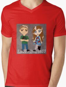 Luff-N-Stuff Logo Mens V-Neck T-Shirt