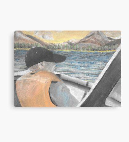 Chalk Pastel 8x10 Brother Fishing Canvas Print