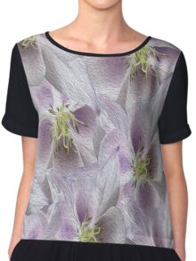 Flower Floral oil painting Chiffon Top