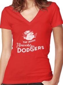 brooklyn bums Women's Fitted V-Neck T-Shirt