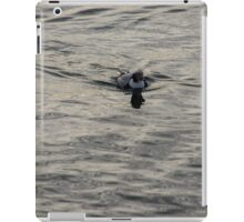 Moire Silk Water and a Long Tailed Duck iPad Case/Skin