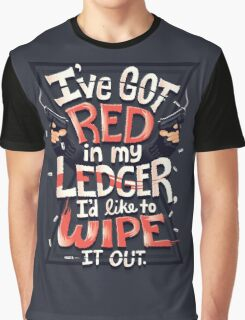 Wipe out the red Graphic T-Shirt