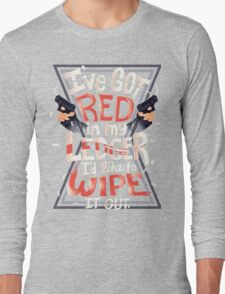 Wipe out the red Long Sleeve T-Shirt