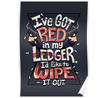 Wipe out the red Poster