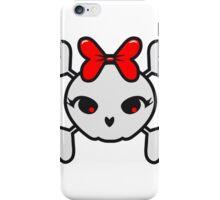 Skull girl funny sweet iPhone Case/Skin