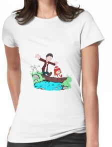 Amy & Doctor Womens Fitted T-Shirt