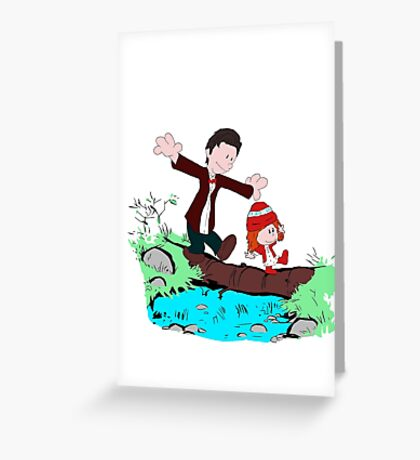 Amy & Doctor Greeting Card