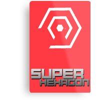 Super Hexagon Semi-Minimalist Metal Print