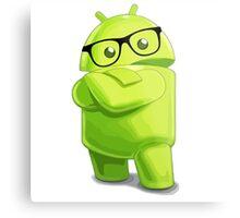 android logo glasses cool programming Metal Print
