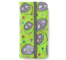 Soot Sprites on Green iPhone Wallet/Case/Skin
