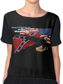 Heritage, Not Hatred Patriotic Eagle Chiffon Top