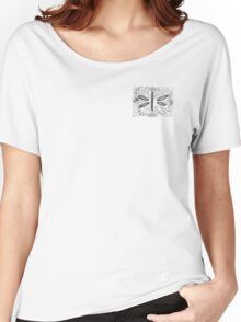 Small Butterfly Woodblock Print Women's Relaxed Fit T-Shirt