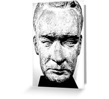sculpture face stone stallin Greeting Card